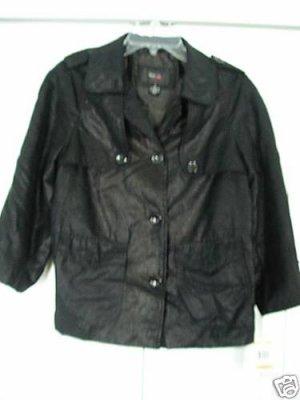Style & Co. Jacket Top Small Black Metallic Light NEW