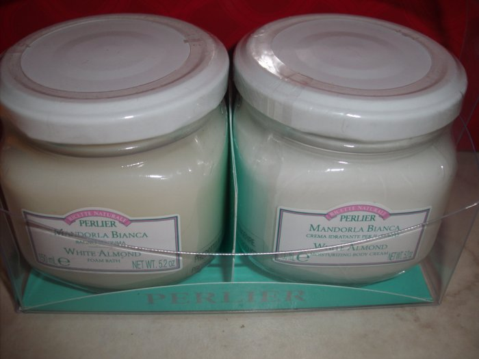 Perlier White Almond Foam Bath, Moisturizing Body Cream