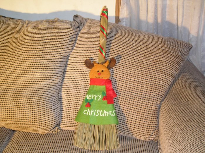 Christmas Broom Reindeer