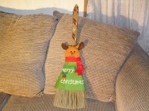 Christmas Broom Reindeer