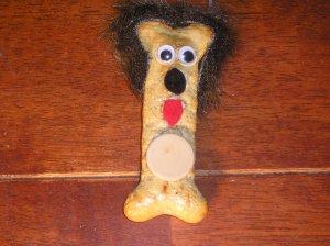 Dog Bone Ornament (Brown Ears)