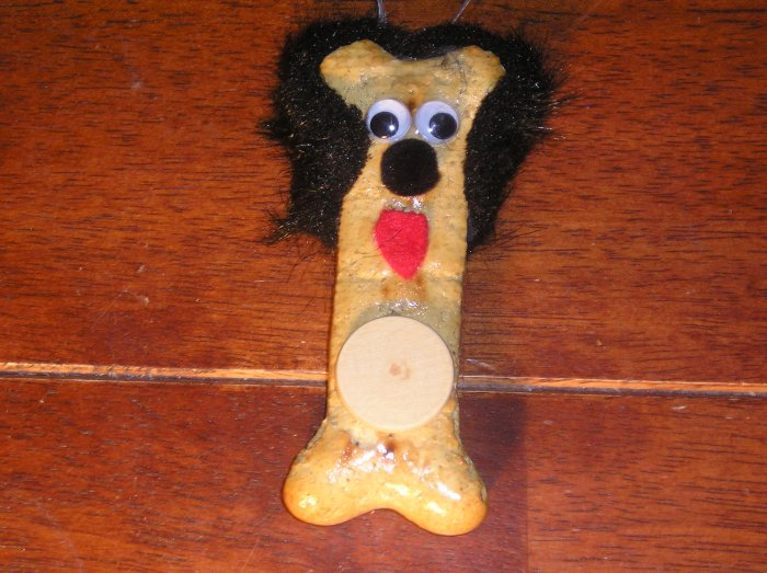 Dog Bone Ornament (Black ears)