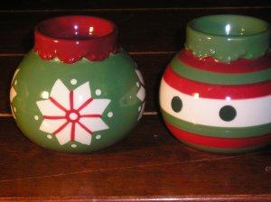 Christmas Ornament Tea Light Candle Holders