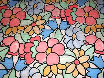 FLoral Stained Glass Window Film