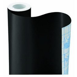 BLACK DIAMOND SOLID CONTACT PAPER DRAWER SHELF LINER