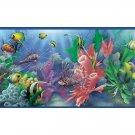 Blue Lagoon Aquarium Fish Wallpaper Bathroom Border