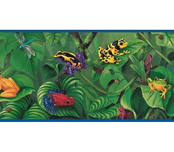 Rain Forest Frogs Wallpaper Wall Border