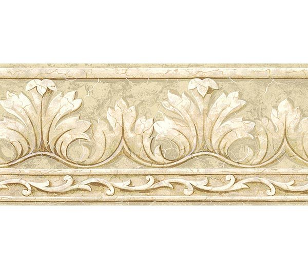 Ivory Crown Acanthus Leaf Wallpaper Wall Borders