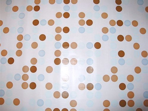 BLUE BROWN POLKA DOT CONTACT PAPER ADHESIVE SHELF LINER