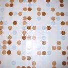 BLUE BROWN POLKA DOT CONTACT PAPER ADHESIVE SHELF LINER