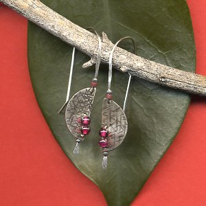 Half Moon Earrings-Silver