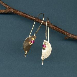Half Moon Earrings-Gold filles