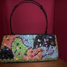 GaBaangs Black Beaded After Five Bag Handbag Purse Sequins