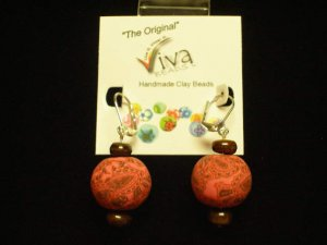 Viva Beads Earrings Raspberry Kiss Jumbo Stone 18mm Eco-Friendly