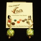 Viva Beads Earrings Mojito Dangle Square Silverball 14mm Eco-Friendly