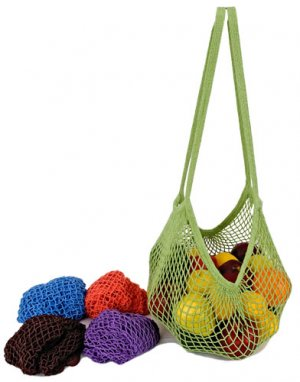 Eco Friendly Eco Bags String Market Bag Long Handle Cotton Tote