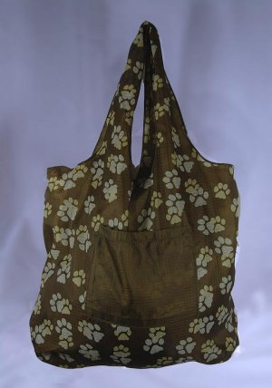 Reusable Eco-Friendly TuckerBags Pawprints Shopping Tote Bag