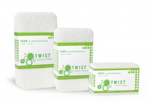 Twist Clean Eco-Friendly Biodegradable Naked Sponge One Large