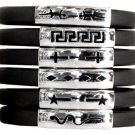 One Aztec Bracelet Stainless Steel Rubber Silicon Band Assorted Designs