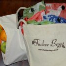 Shopping Kit 3 Eco-Friendly Totes & 3 Organic Produce Bags