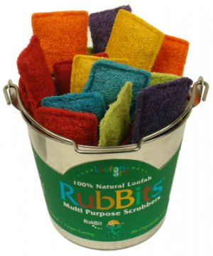 1 Loofah Art RubBit Scrubber Eco-Friendly kitchen bath Six Colors