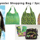 Three Large Tote Bags Shopping Animal JoAnn Marie Designs Eco-Friendly