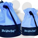 Bow Wow Bag Chic Tote for Dogs Attach to Leash & Go Light Blue