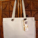 JoAnn Marie Designs City Tote Pewter Lap Top Book Bag Brief Case
