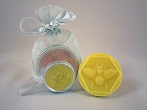 Honey House Naturals Small Lavender Bee Bar & Mango Lip Butter Gift Set