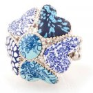 Viva Beads Something Blue Heart Ring Stretch Style Anniversary Collection