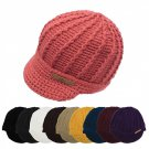 1 Newsboy Cable Knit Jockey Hat Cap Beret 9 Colors Wool One Size