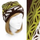 Beanie Brown Olive Green Soft Knit Hat Cap Quality Embossed