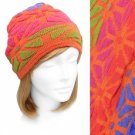 Beanie Orange Fuchsia Blue Soft Knit Hat Cap Quality Embossed