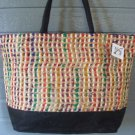 Large Bag Viva Beads Inspired VB2 Handbag Black w/ Zipper Closure