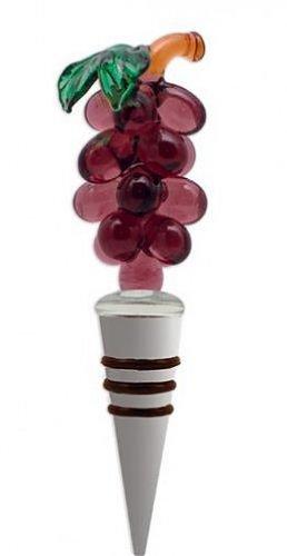 Bottle Topper Cape Shore Glass Grapes Chrome Wine Stopper Bar Accessory