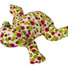 "Mary Meyer Fizz Frog Pizzazz Print Embroidered 12"" Soft Velour Animal"