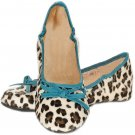 Footzy Folds Ballet Flat Shoes Turquoise OLENA Foldable Flats
