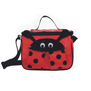 Red Ladybug Lunch Bag Snack Box Insulated Easy Clean FUN by Sassafras