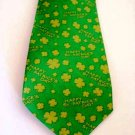 Tie Happy St. Patrick's Day Four-Leaf Clover Men's Necktie Shamrocks