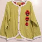 Jacket Sweater Lady Bug Top by Eleanor Soft Lightweight Organic Cotton
