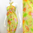 Beach Pareo Sarong Wrap Tropical Flower Print Multi-Color Cover-Up