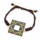 Shamballa Bracelet Aztec Design Square Multi-Colored Disk Fashion Jewelry