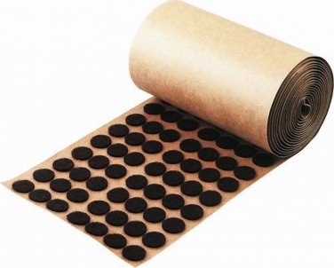 "Brown Felt Buttons Pads Roll 1000 Adhesive Backed 1/2"" Craft Pad Protectors"