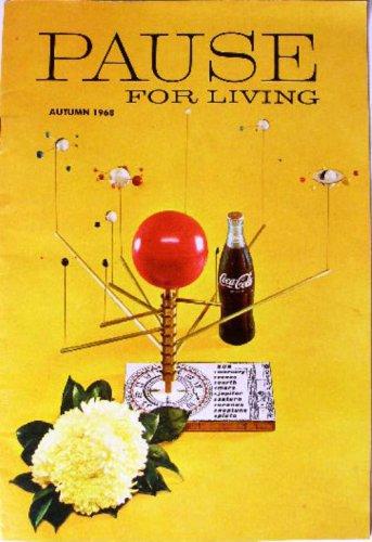 Coca-Cola PAUSE For LIVING Magazine Booklet Vintage Coke Autumn 1968 Crafts
