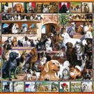 White Mountain Puzzles The World of Dogs Jigsaw Puzzle 1000 Piece NEW Sealed