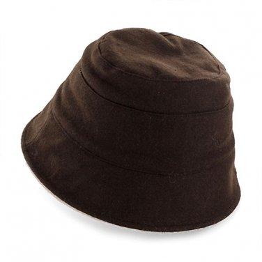 Peach Basket Hat Reversible Khaki Brown 1 Size
