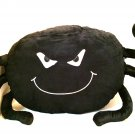 Black Spider Plush Pillow Spooky Scary Fun for Kids Stuffed Animal