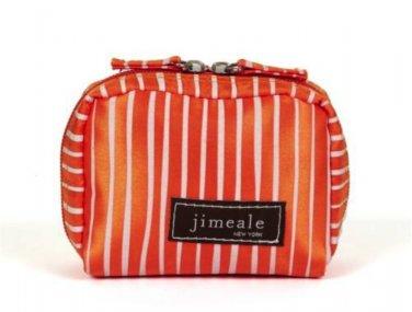 Cosmetic Bag Camera Case Purse Orange White Satin Jimeale New York