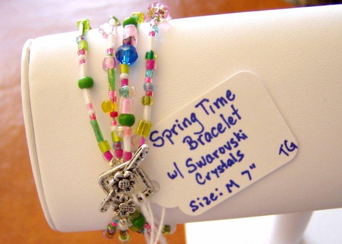 Sprint Time Bracelet with several swavorski crystals
