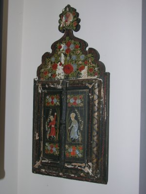Mirror with Hand Painted wooden frame